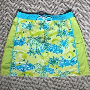 Vintage Lilly Pulitzer Skirt 14 Lime Green Aqua